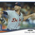 David Price 2014 Topps Update #US-7 Detroit Tigers Baseball Card
