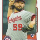 Tanner Roark 2014 Topps Rookie #602 Washington Nationals Baseball Card