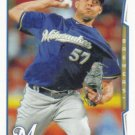Francisco Rodriguez 2014 Topps Update #US-31 Milwaukee Brewers Baseball Card