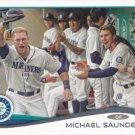 Michael Saunders 2014 Topps #224 Seattle Mariners Baseball Card