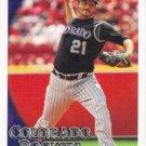 Jason Marquis 2010 Topps #82 Colorado Rockies Baseball Card