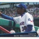 Ron Washington 2009 Topps #584 Texas Rangers Baseball Card