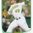 Brett Anderson 2013 Topps #347 Oakland Athletics Baseball Card