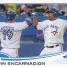 Edwin Encarnacion 2013 Topps #310 Toronto Blue Jays Baseball Card