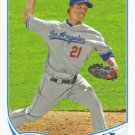 Zack Greinke 2013 Topps #519 Los Angeles Dodgers Baseball Card