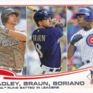 Chase Headley-Ryan Braun-Alfonso Soriano 2013 Topps #272 Baseball Card