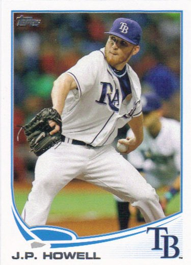 JP Howell 2013 Topps #65 Tampa Bay Rays Baseball Card