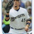 Travis Ishikawa 2013 Topps #45 Milwaukee Brewers Baseball Card