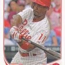 Jimmy Rollins 2013 Topps #206 Philadelphia Phillies Baseball Card