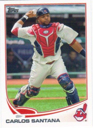 Carlos Santana 2013 Topps 141 Cleveland Indians Baseball Card