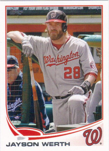 Jayson Werth 2013 Topps #328 Washington Nationals Baseball Card