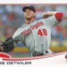 Ross Detwiler 2013 Topps #505 Washington Nationals Baseball Card