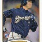Norichika Aoki 2012 Topps Rookie #507 Milwaukee Brewers Baseball Card