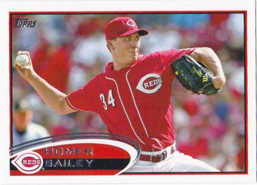 Homer Bailey 2012 Topps #659 Cincinnati Reds Baseball Card