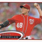 Ross Detwiler 2012 Topps Update #US315 Washington Nationals Baseball Card