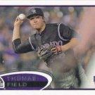Thomas Field 2012 Topps Rookie #460 Colorado Rockies Baseball Card