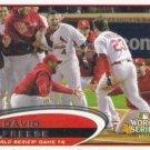David Freese 2012 Topps #291 St. Louis Cardinals Baseball Card