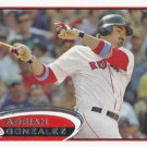 Adrian Gonzalez 2012 Topps #50 Boston Red Sox Baseball Card
