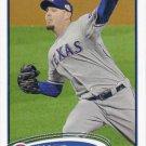 Matt Harrison 2012 Topps #481 Texas Rangers Baseball Card
