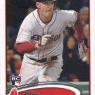Will Middlebrooks 2012 Topps Update Rookie #US265 Boston Red Sox Baseball Card