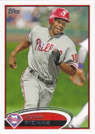 Juan Pierre 2012 Topps #658 Philadelphia Phillies Baseball Card