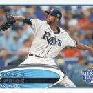 David Price 2012 Topps Update #US305 Tampa Bay Rays Baseball Card