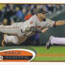 Pablo Sandoval 2012 Topps #185 San Francisco Giants Baseball Card