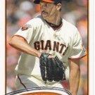 Barry Zito 2012 Topps #420 San Francisco Giants Baseball Card
