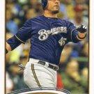 Travis Ishikawa 2012 Topps Update #US205 Milwaukee Brewers Baseball Card