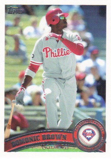 Domonic Brown 2011 Topps #421 Philadelphia Phillies Baseball Card