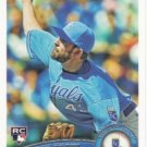 Aaron Crow 2011 Topps Rookie #633 Kansas City Royals Baseball Card