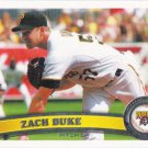 Zach Duke 2011 Topps #96 Pittsburgh Pirates Baseball Card