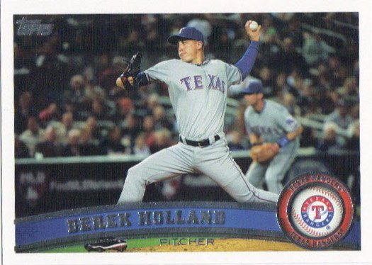 Derek Holland 2011 Topps #413 Texas Rangers Baseball Card