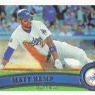 Matt Kemp 2011 Topps #375 Los Angeles Dodgers Baseball Card