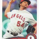 Ervin Santana 2011 Topps #439 Los Angeles Angels Baseball Card