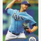 James Shields 2011 Topps #311 Tampa Bay Rays Baseball Card