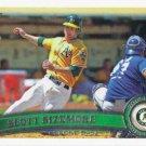 Scott Sizemore 2011 Topps Update #US111 Oakland Athletics Baseball Card