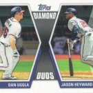 Dan Uggla-Jason Heyward 2011 Topps 'Diamond Duos' #DD-5 Atlanta Braves Baseball Card