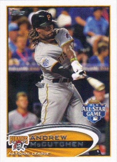 Andrew McCutchen 2012 Topps Update #US87 Pittsburgh Pirates Baseball Card
