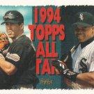Jeff Bagwell-Frank Thomas 1995 Topps #384 Houston Astros-Chicago White Sox Baseball Card