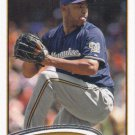 Jose Veras 2012 Topps Update #US143 Milwaukee Brewers Baseball Card