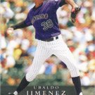 Ubaldo Jimenez 2008 First Edition #351 Colorado Rockies Baseball Card