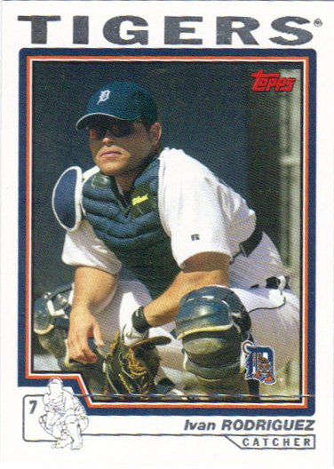 Ivan Rodriguez 2004 Topps 500 Detroit Tigers Baseball Card