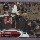 Chris Young 2012 Topps Chrome #145 Arizona Diamondbacks Baseball Card