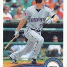 Adam Lind 2011 Topps #365 Toronto Blue Jays Baseball Card