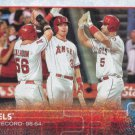 Los Angeles Angels 2015 Topps #223 Baseball Team Card