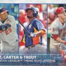 Nelson Cruz-Chris Carter-Mike Trout 2015 Topps #285 Baseball Card