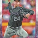 Jordan Lyles 2015 Topps #72 Colorado Rockies Baseball Card