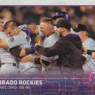 Colorado Rockies 2015 Topps #168 Baseball Team Card