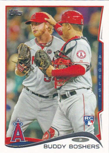 Buddy Boshers 2014 Topps Rookie #34 Los Angeles Angels Baseball Card